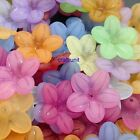 150 pcs Acrylic 5 petal Matt Frosted flower bead 20mm c266 U PICK