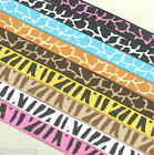 "10-100 yds 3/8"" (~10mm) Zebra Giraffe print Grosgrain Ribbon H029 H032 U PICK"