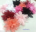 "25 pcs 3D Soft Chiffon Flower Applique 100mm 4"" a123 U PICK"