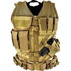 G.P.I TACTICAL CROSS DRAW ASSAULT COMBAT AIRSOFT POLICE SWAT VEST + PISTOL BELT