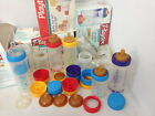 New Vintage Playtex Bottles w/Infant and Older Baby Size Flat top nipples ortho