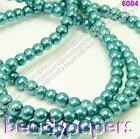 220 440 660 Round Glass Pearl Beads Teal / Turquoise Blue 3mm U Choose No 6305