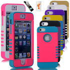 Colorful Heavy Duty Hybrid Rugged Hard Case Cover For iPhone 5 5C C 5S s