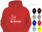 I'M GOING TO BE A BIG BROTHER! DESIGNER HOODY HOODIES KIDS CHILDRENS AGE 1 - 12
