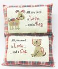 All You Need Is Love Pillow Cat/Dog LP23604