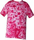 Tye Dye T Shirt Pink Scrunch Hand Dyed in the UK by Sunshine Clothing