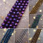 2-3mm Gold Silver Colorful Violet Coppery Blue faceted Hematite Round Loose Bead