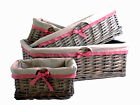 Wicker Baskets 3 Sizes - Lining Small Large Brown Hamper Display Storage Willow