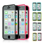 For Apple iPhone 5 5S Wrap Up TPU Case Cover with Built In Screen Protector