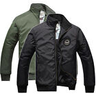 New Mens Warm Coat Air Force Pilot Army Work Bomber Jacket Aviator 2 Color U