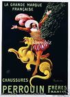 Chaussures Perrouin vintage retro poster, Rare! 4 sizes available, France 86