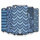 HEAD CASE DESIGNS PRINTED DENIM CASE COVER FOR APPLE iPOD TOUCH 4G 4TH GEN