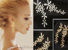 Womens Elegant Fashion Lovely Flower Full Rhinestone Earrings Lady Stud Earring