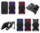 For Kyocera Hydro XTRM C6721 Cover Rhino Holster Combo Kickstand Belt Clip Case