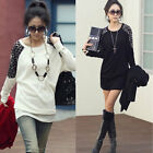 Dolman Women Ladies Long Sleeve Leopard Print Top Tunic T-shirt Blouse Pullover