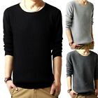 Winter Mens Crew Neck Cotton Sweater Long Sleeve Europe Knitwear Tops Hot
