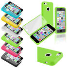 Color Book Stylish Design TPU Rubber Clear Frosted Cover Skin Case For iPhone 5C