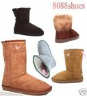 Women's Cozy Flat Heel Round Toe Faux Fur Mid Calf Ankle Winter Boots Shoes New
