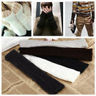 New Unisex Women Men Arm Warmer Long Fingerless knit Mitten Winter Gloves