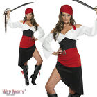 FANCY DRESS COSTUME # LADIES SASSY PIRATE WENCH WITH SKIRT OUTFIT SIZES 8-18
