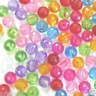 Acrylic GLOBE faceted round beads 4mm 5mm 6mm 8mm C029 U PICK