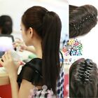 One Piece Women Lady Clip-in Long Straight Ponytail Hair Extensions 1 Claw Clip
