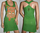New Green Women's Ringspun Fruitbowl Express Casual Dress Size 10/12