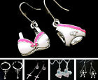 Cute jacket ballerina cross crown bikini swing charm earrings multiple choices