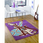 Retro Funky Girls Rock Flair Rugs Guitar Luxury Pink Modern Quality Oblong Rug