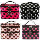 New Women Retro Polka Dot Portable Cosmetic Beauty Makeup Hand Case Bag 4 Colors