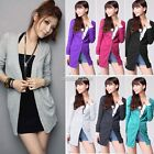 New Womens Ladies Casual Soft Long Knitted Cardigan Shirt Coat Jacket Sweater N9