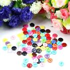 New 100/200pcs 1cm Round Shape Mixed Color Resin Buttons Sewing Accessories Hot