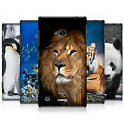 HEAD CASE WILDLIFE PROTECTIVE SNAP-ON HARD BACK CASE COVER FOR NOKIA LUMIA 720