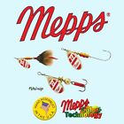 Mepps Aglia Red/White Blade, Choice of Hook, Blade Size / Weight, & Quantity