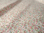 Pink  Lilac Cream Polka Floral Flower 116 cm  Cotton Crafts Fabric  Material