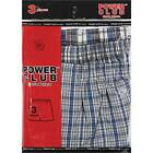 6 Pair Mens Power Club Assorted Plaid Woven Boxer Shorts Value Underpants Trunks