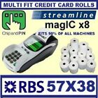 Chip & pin thermal rolls 57x40mm for RBS, streamline machines and ATM terminals