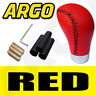 More images of RED LEATHER GEAR SHIFT KNOB STICK MANUAL SHIFTER SELECTOR LEVER CHANGE VEHICLE