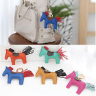 NEW A222 Real Lamb Skin Leather Rodeo Horse Handbag Charm Key Chain Ring Finder