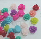 40 pcs Plastic Resin flowers flatback rose bead 10mm 7mm c010 c051 U PICK