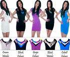 MOTEL ROCKS RETRO DISCO JET COLOUR BLOCK BODY CON PARTY DRESS