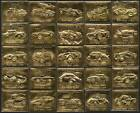 AUTO 100 CLASSIC CAR STAMPS (ZAMBIA 22ct / 22K / 22 Carat Embossed GOLD Leaf)