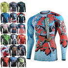 Fixgear under tight running armour mma gym compression skin baselayer shirts