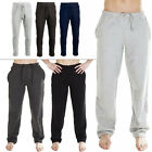 New Mens Fleece Open Ankle Joggers Jogging Tracksuit Bottoms Pants Size S M L XL