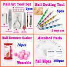 Nail Soaker Remover \ Dotting Tool \ Nail Art Tool Set \ Wipes for Nail Art Gel