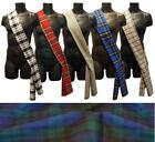 6ft Scottish Commonwealth Red Black Blue Tartan Sash Burns Night Fancy Dress