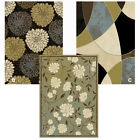 "Transitional Floral Area Rug 8x11 Modern Geometric Carpet - Actual 7' 8""x10' 4"""