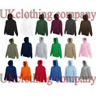 Adult Fruit of the Loom Plain Blank Hooded Sweatshirt - Pullover Hoodie