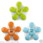 FLOWER SHAPED WALL CLOCK - FOR KITCHEN BATHROOM KIDS BEDROOM WITH SUCTION CUP