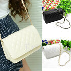 New Hot Fashion Women Girls Small Chain Quilted Shoulder Cross Body Bag 2 Colors